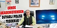 ÖRNEK AKADEMİSYENDEN DUYARLI POLİSE TEŞEKKÜR