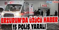 KARAYAZI#039;DAN DÖNÜYORLARDI, 15 POLİS YARALI