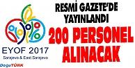 ERZURUMDA 200 PERSONEL İŞE ALINACAK