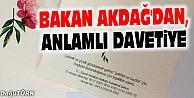 BAKAN AKDAĞ#039;DAN, ANLAMLI DÜĞÜN DAVETİYESİ