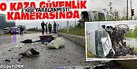 TRAFİK KAZASI GÜVENLİK KAMERASINA YANSIDI