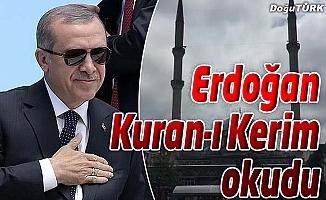 CUMHURBAŞKANI ERDOĞAN ŞEHİT CENAZESİNDE KUR'AN-I KERİM OKUDU