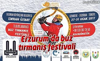 ERZURUM'DA BUZ TIRMANIŞ FESTİVALİ