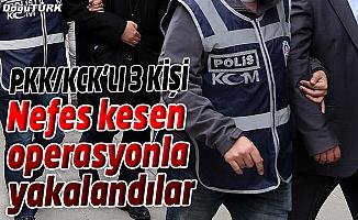 ERZURUM'DA PKK/KCK ÜYESİ 3 KİŞİ YAKALANDI