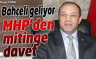 MHP İL BAŞKANI KARATAŞ'TAN MİTİNGE DAVET