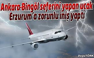 ANKARA-BİNGÖL SEFERİNİ YAPAN UÇAK ERZURUM'A İNDİ