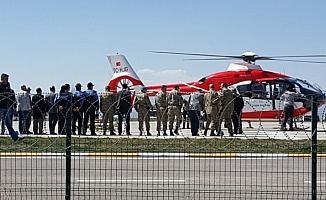 Ağır yaralanan teğmen Erzurum'a getirildi