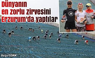 296 sporcu, 400 metre tırmandı
