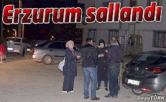 Erzurum 4,7 ile sallandı