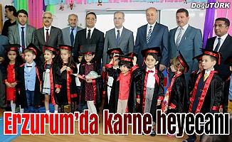 Erzurum'da, 165 bin 621 öğrenci karne aldı
