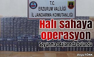Erzurum'da halı sahaya operasyon