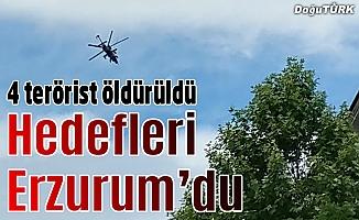 Erzurum'da eylem yapmak isteyen 4 PKK'lı öldürüldü