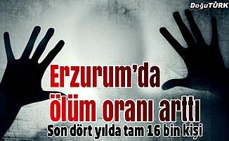 Erzurum'da ölüm oranı arttı