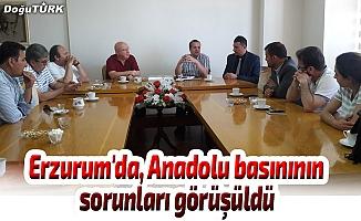 Erzurum'da, Anadolu basınının sorunları görüşüldü