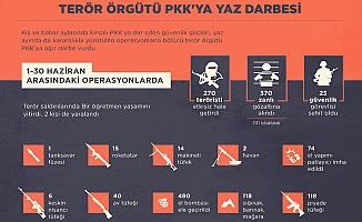 Terör örgütü PKK'ya yaz darbesi