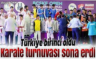 4. Uluslararası Palandöken Karate Turnuvası sona erdi