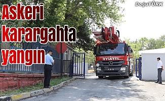 Erzurum'da askeri karargahta yangın