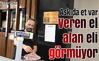 Erzurumlu kasabın takdirlik hizmeti