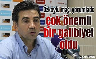 Teknik Patron Özköyü'den maç yorumu