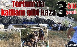 Tortum'da katliam gibi kaza: 3 ÖLÜ