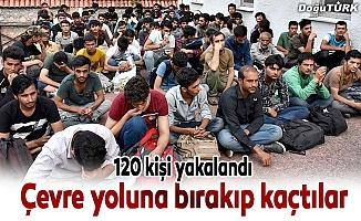 120 mülteci yol kenarında yakalandı