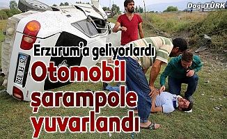 Erzurum'a gelirken kaza yaptılar: 5 yaralı
