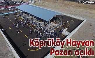 Köprüköy canlı hayvan pazarı açıldı