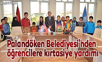 Palandöken Belediyesi'nden öğrencilere kırtasiye yardımı