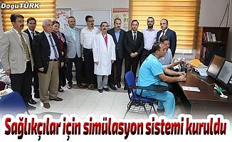 Sağlıkçılar için simülasyon sistemi kuruldu