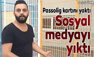 Turnikesiz Erzurumsporlular sosyal medyayı salladı