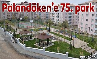 Palandöken Belediyesi 75'inci parkını yaptı