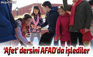 """""""Afet"""" dersini AFAD'da işlediler"""