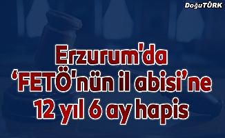 """Erzurum'da """"FETÖ'nün il abisi""""ne 12 yıl 6 ay hapis"""