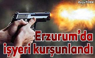 Erzurum'da iş yerine silahlı saldırı