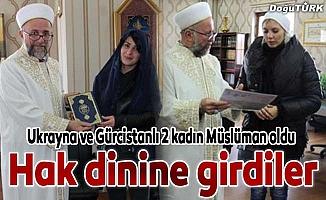 Ukrayna ve Gürcistanlı 2 kadın Müslüman oldu