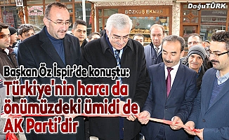 AK Parti İspir İlçe Başkanlığı hizmet binası açıldı