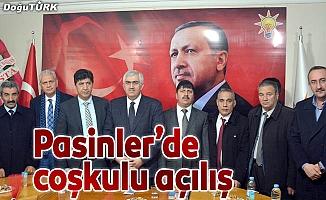 AK Parti Pasinler İlçe Başkanlığı yeni hizmet binası açıldı