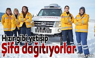 Erzurum İl Sağlık Müdürlüğü ekipleri şifa dağıtıyor