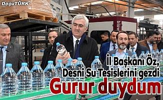 İl Başkanı Öz, Desni Su Tesislerini gezdi