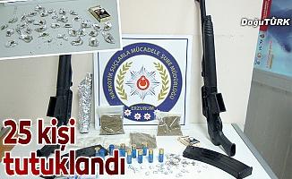 Erzurum ve İzmir'de uyuşturucu operasyonu