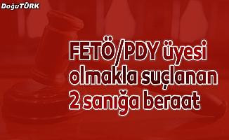 FETÖ/PDY üyesi olmakla suçlanan 2 sanığa beraat