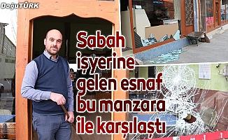 O ilçede beş işyerinin camı kırıldı