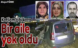 Erzurum'da otomobil ile kamyon çarpıştı: 4 ölü, 1 yaralı