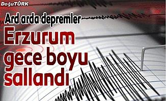 Erzurum gece boyu sallandı