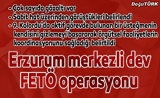 Erzurum merkezli 9 ilde FETÖ/PDY operasyonu