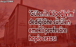 """""""Gülen'in köpeğiyim"""" dediği öne sürülen emekli profesöre 7 yıl 6 ay hapis"""