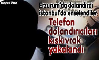 Telefon dolandırıcıları polisten kaçamadı