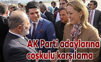 AK Parti milletvekili adaylarına coşkulu karşılama