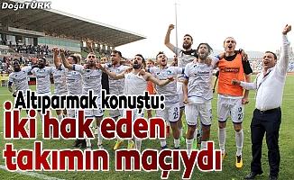 Altıparmak: Hedefimiz 20 sene sonra Erzurum'u Süper Lig'e çıkarmak