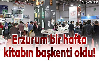 Erzurum bir hafta kitabın başkenti oldu!